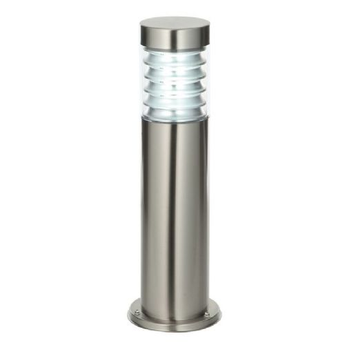 Marine grade brushed stainless steel & clear Polycarbonate Post Light 49910 by Endon
